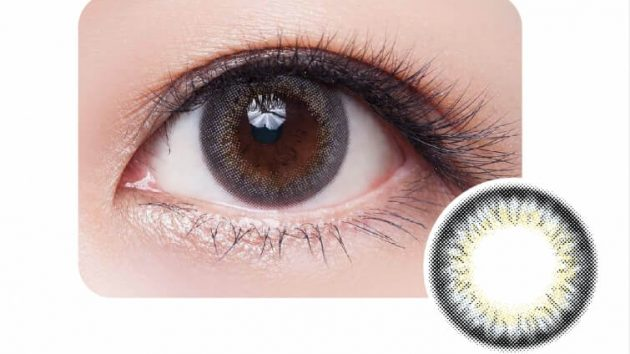 Ocean Blue colour contact lens showing beautiful look of the eye and design