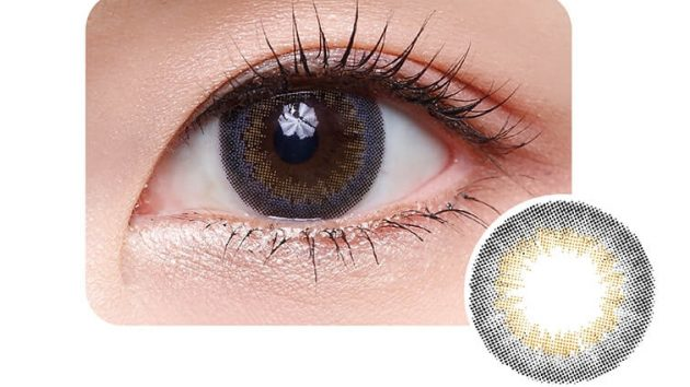 Olive Lime colour contact lens showing beautiful look of the eye and design