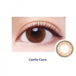 Carrie Coco Monthly Colour Contact Lens - Close Up of Eye