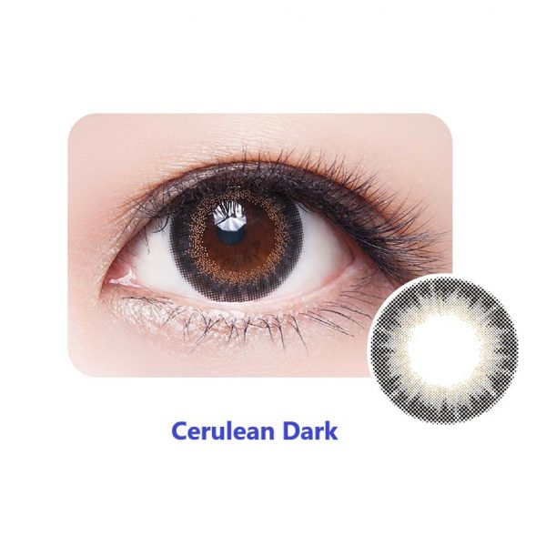 Cerulean Dark Monthly Colour Contact Lens - Close Up of Eye