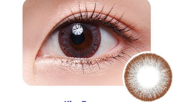 Kiss Brown Daily Colour Contact Lens - Close Up of Eye